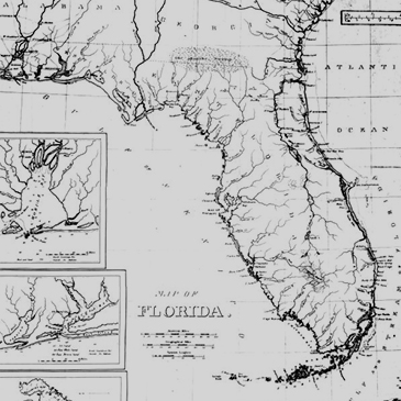 Antique map of Florida