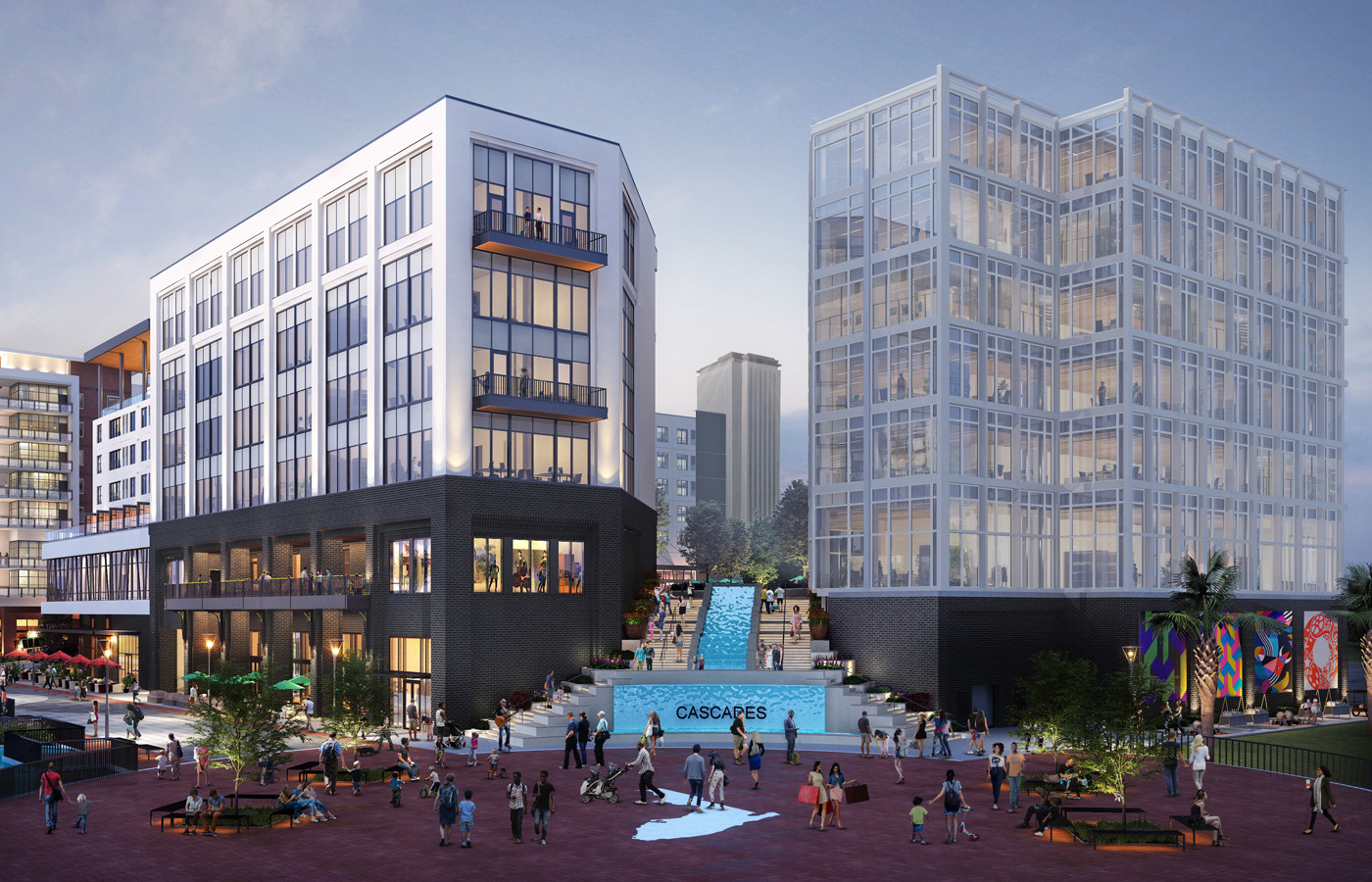 Rendering of the Cascades development